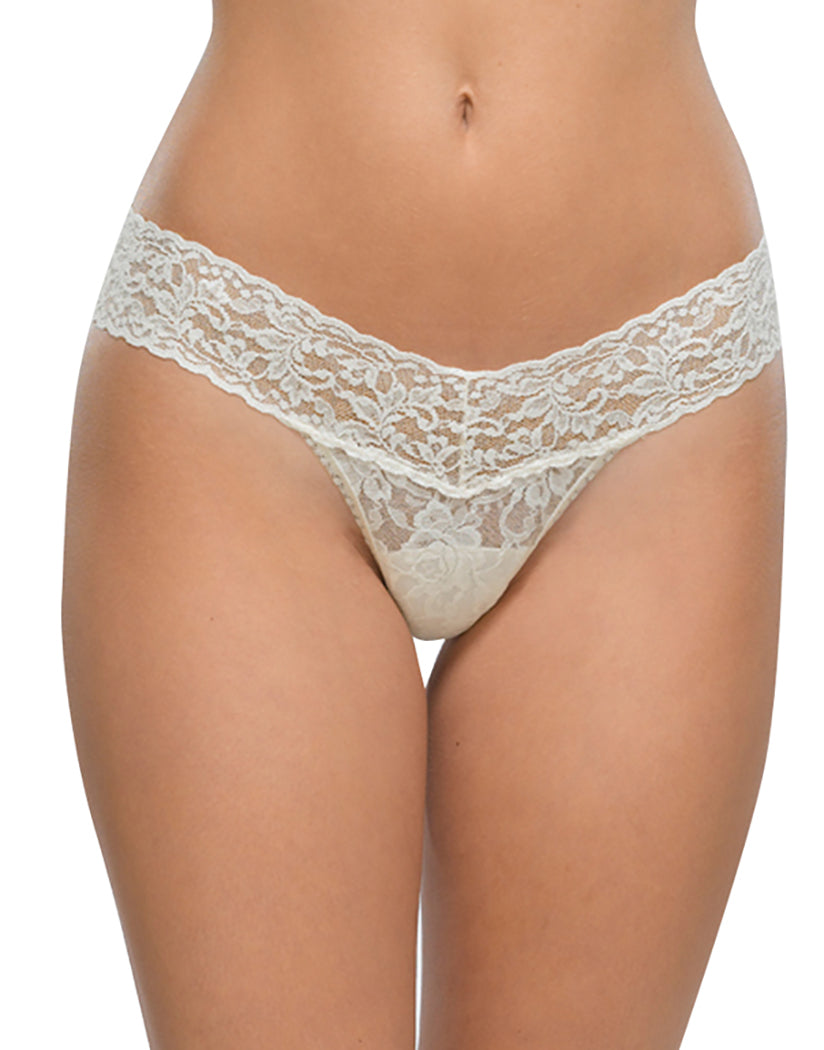 Ivory Front Hanky Panky Stretch Signature Lace Low Rise Thong
