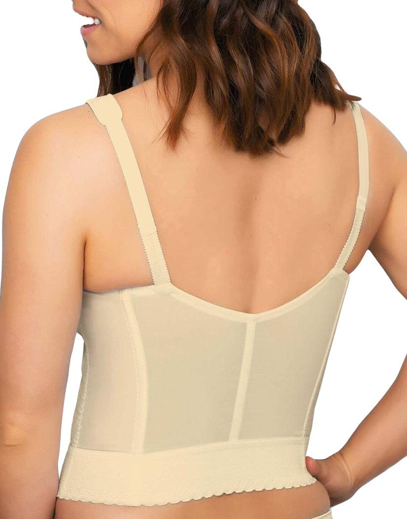 Beige Back Exquisite Fully Front Close Longline Posture Bra 5107530