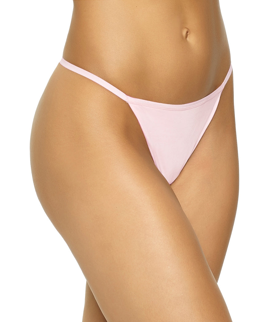 Barely Pink Front Felina Blissful Basic String Panty 550112
