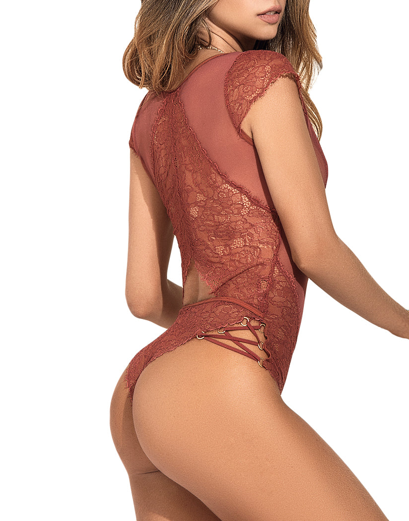 Terraccotta Back Mapale Bohemia Adjustable Bodysuit 8362
