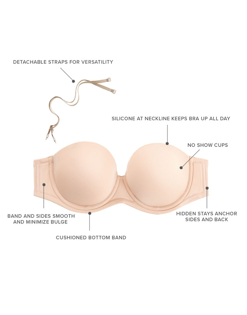 Naturally Nude Other Wacoal Red Carpet Full Figure Strapless Bra
