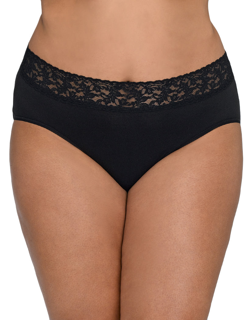 ed205aeacc0f Black Front Hanky Panky Cotton With A Conscience Plus Size French Brief  892461X