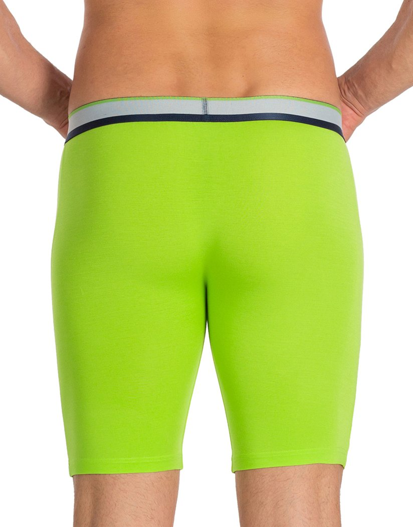 Lime Back Obviously PrimeMan Boxer Brief 9 inch Leg A01