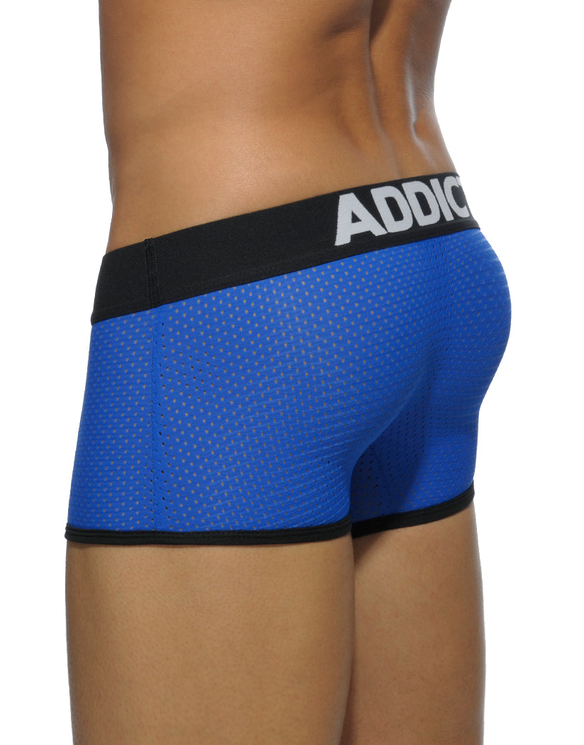 Royal Blue Back Addicted Men's Contrasted Mesh Boxer AD447