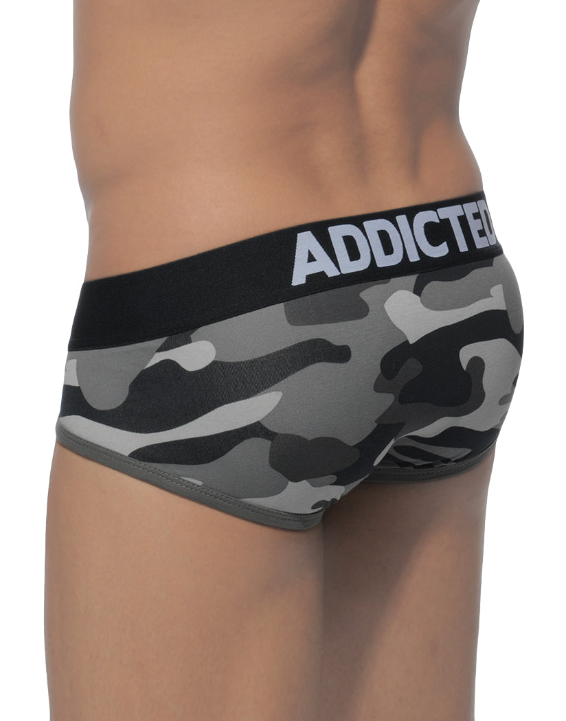 Grey Camouflage Back Addicted Tie-Up Brief AD219