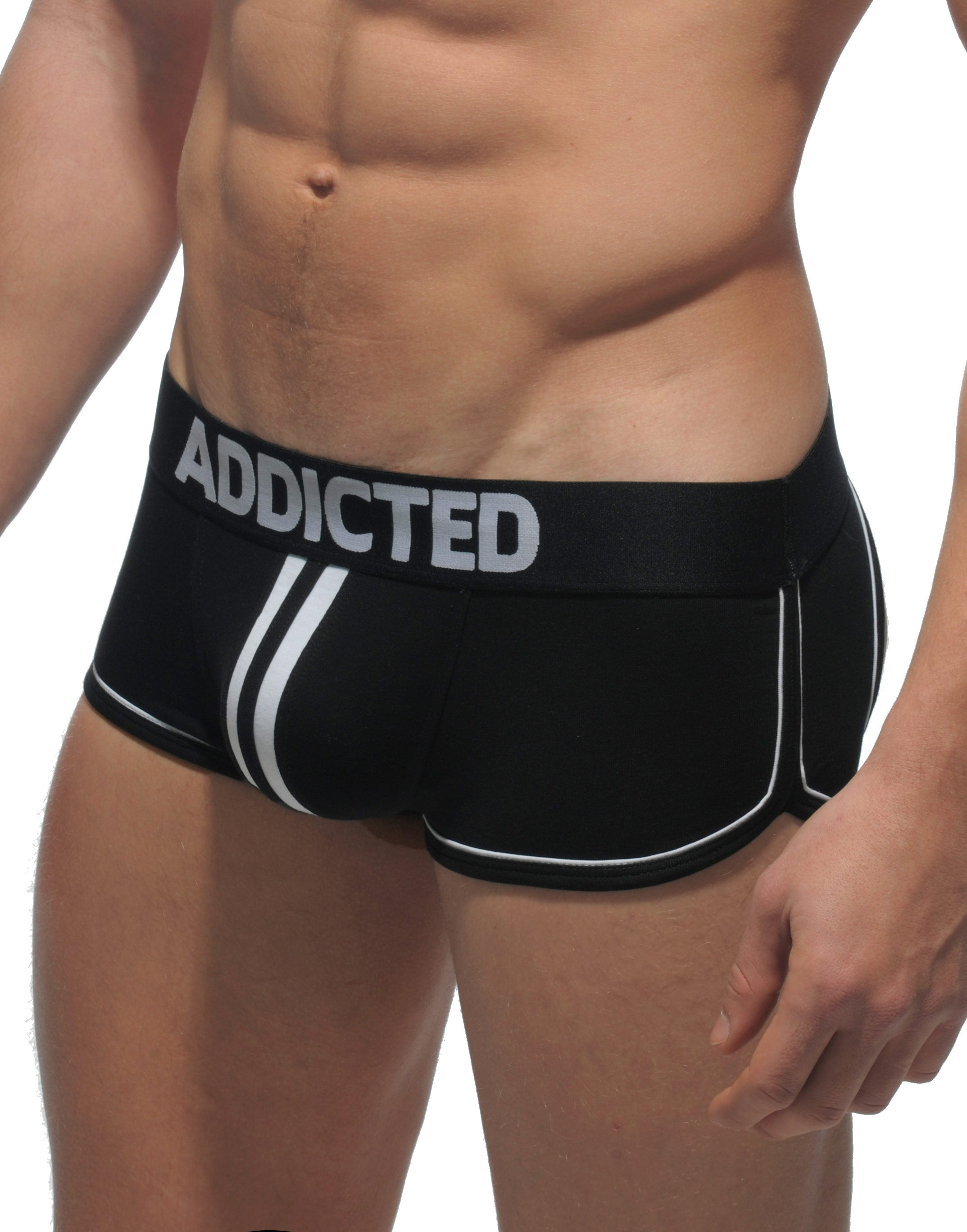 Black Side Addicted Double Piping Bottomless Trunk
