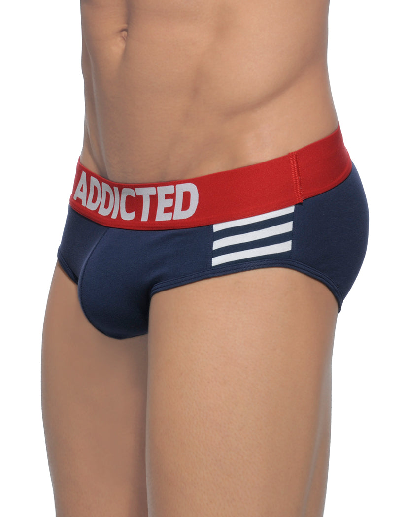 Navy Blue Side Addicted Sailor Stripes Brief