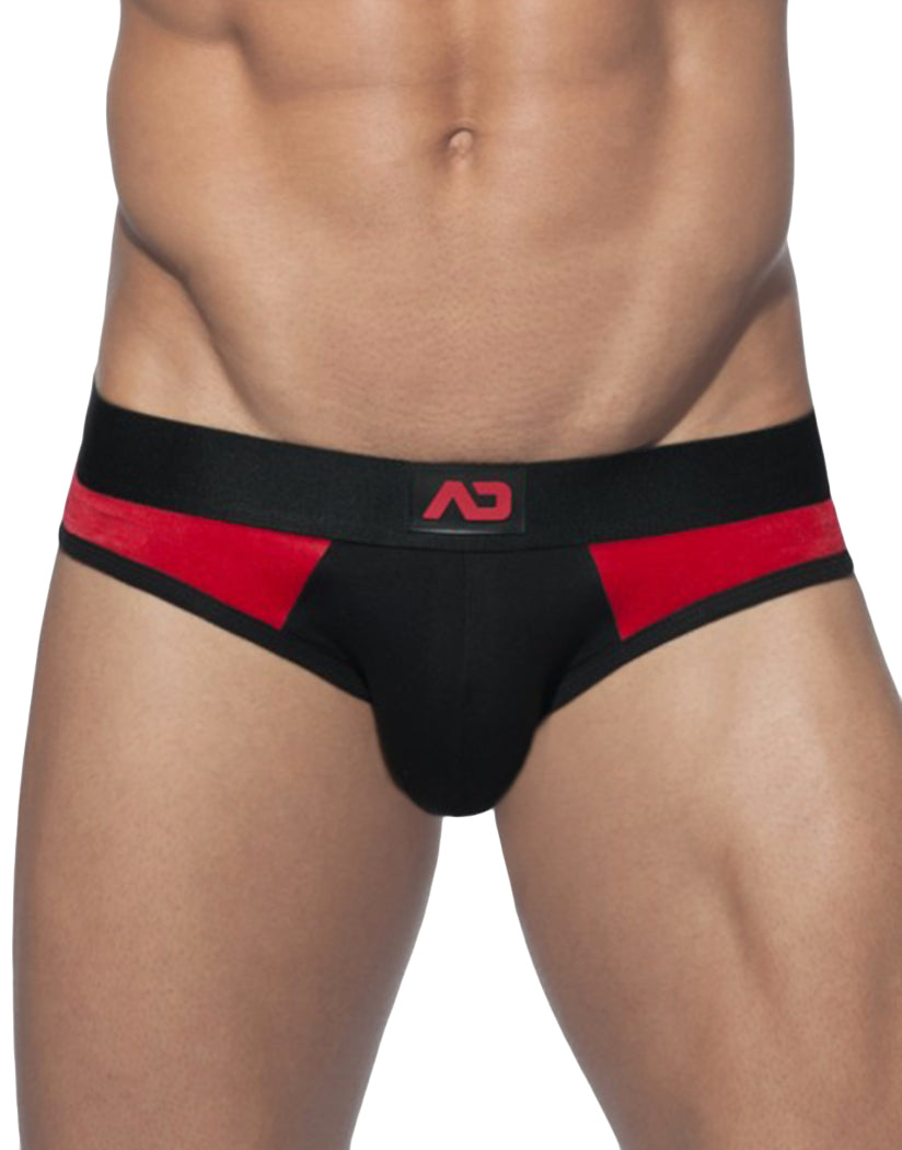 Black Front Addicted Velvet Insert Jockstrap