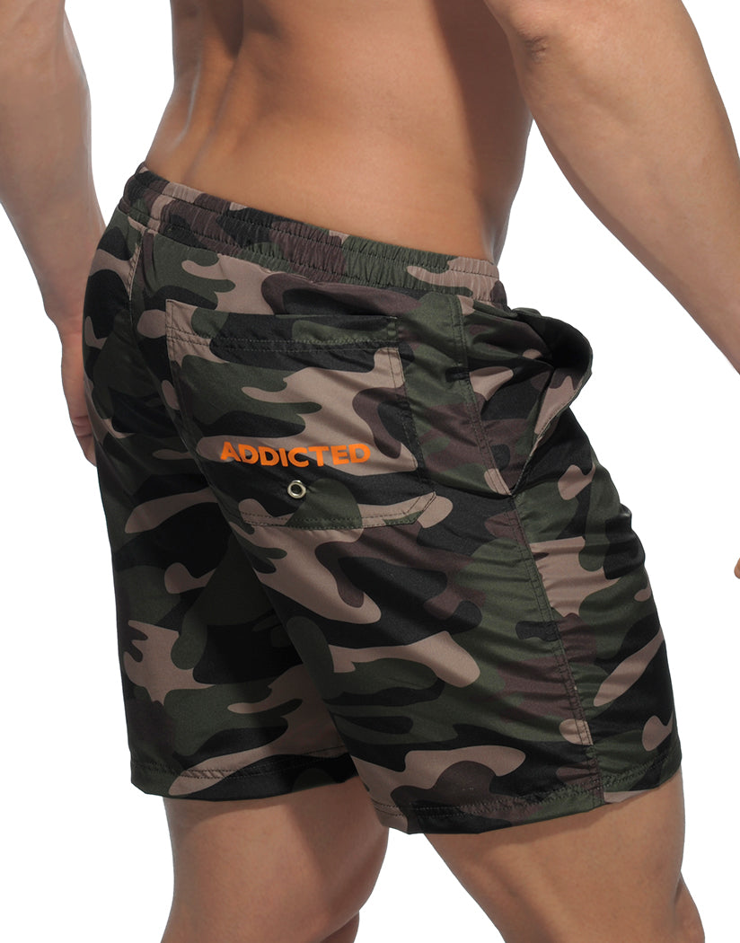 Camouflage Back Addicted Camouflage Long Swim Short