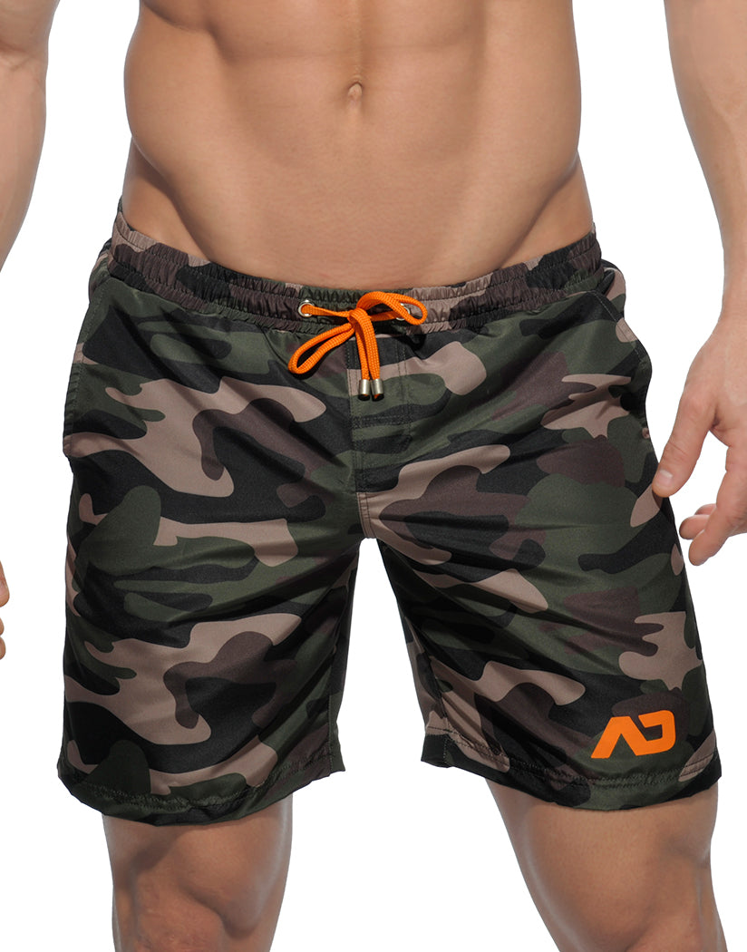 Camouflage Front Addicted Camouflage Long Swim Short
