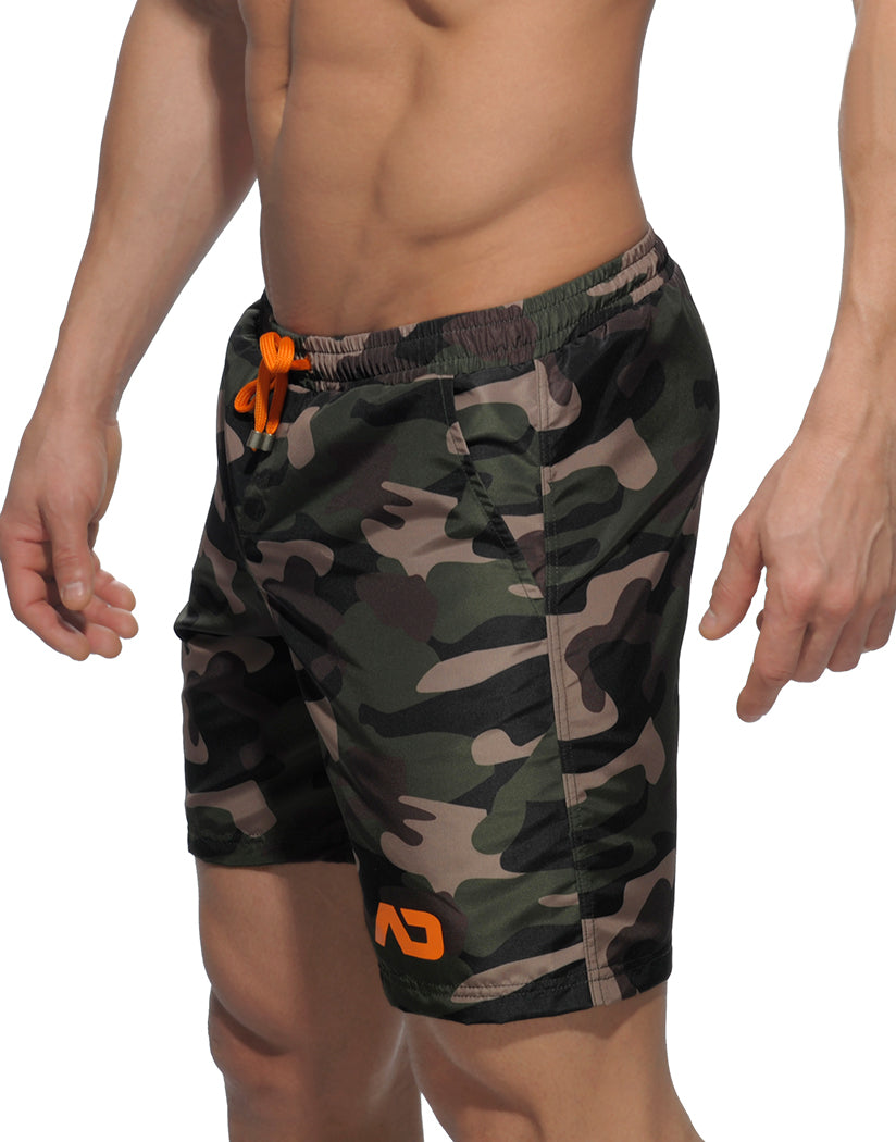 Camouflage Side Addicted Camouflage Long Swim Short