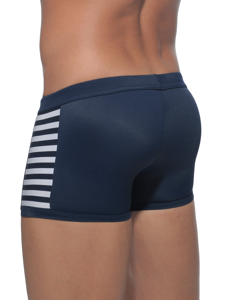 Navy Blue Back Addicted Colored Sailor Swim Boxer