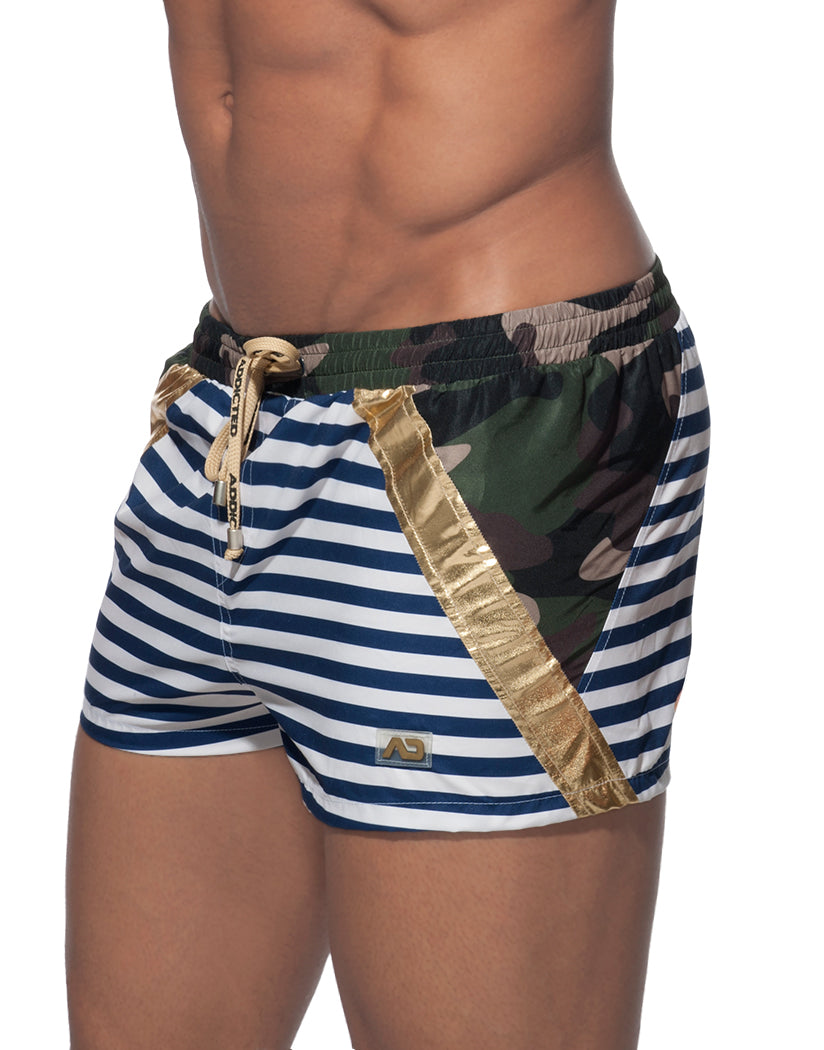 Khaky Side Addicted Metal Sailor Swim Short