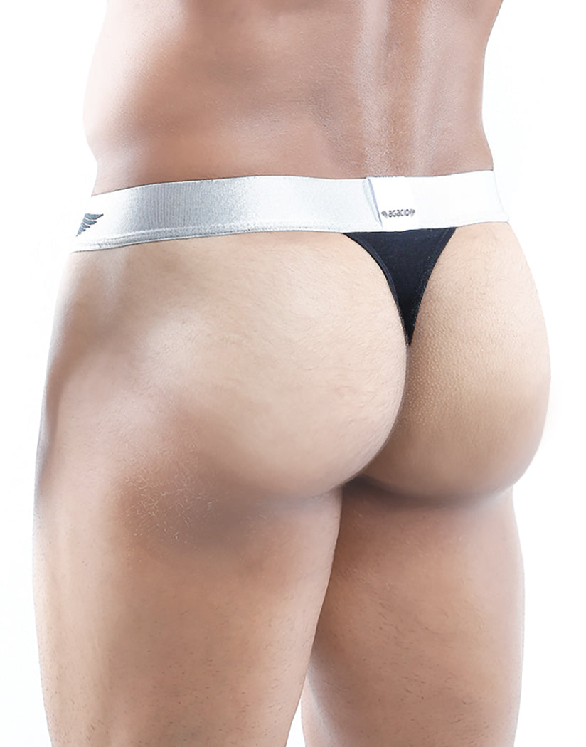 Black Back Agacio Slip Thong AGK003