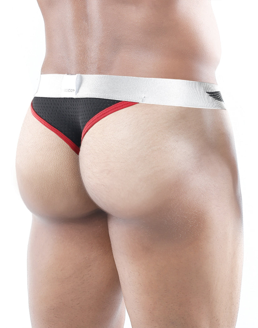 Black Back Agacio Mesh Slip Thong