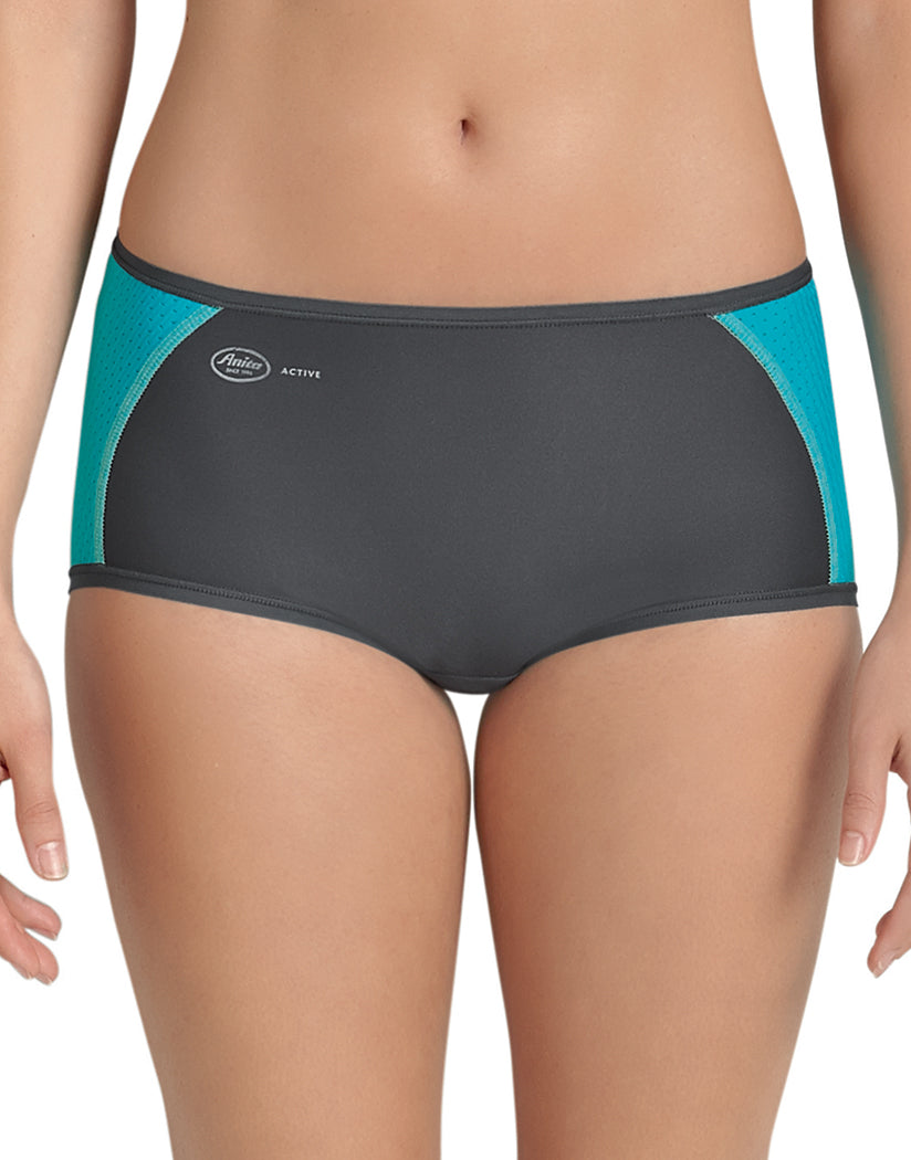 Peacock/Anthracite Front Anita Sport Panty
