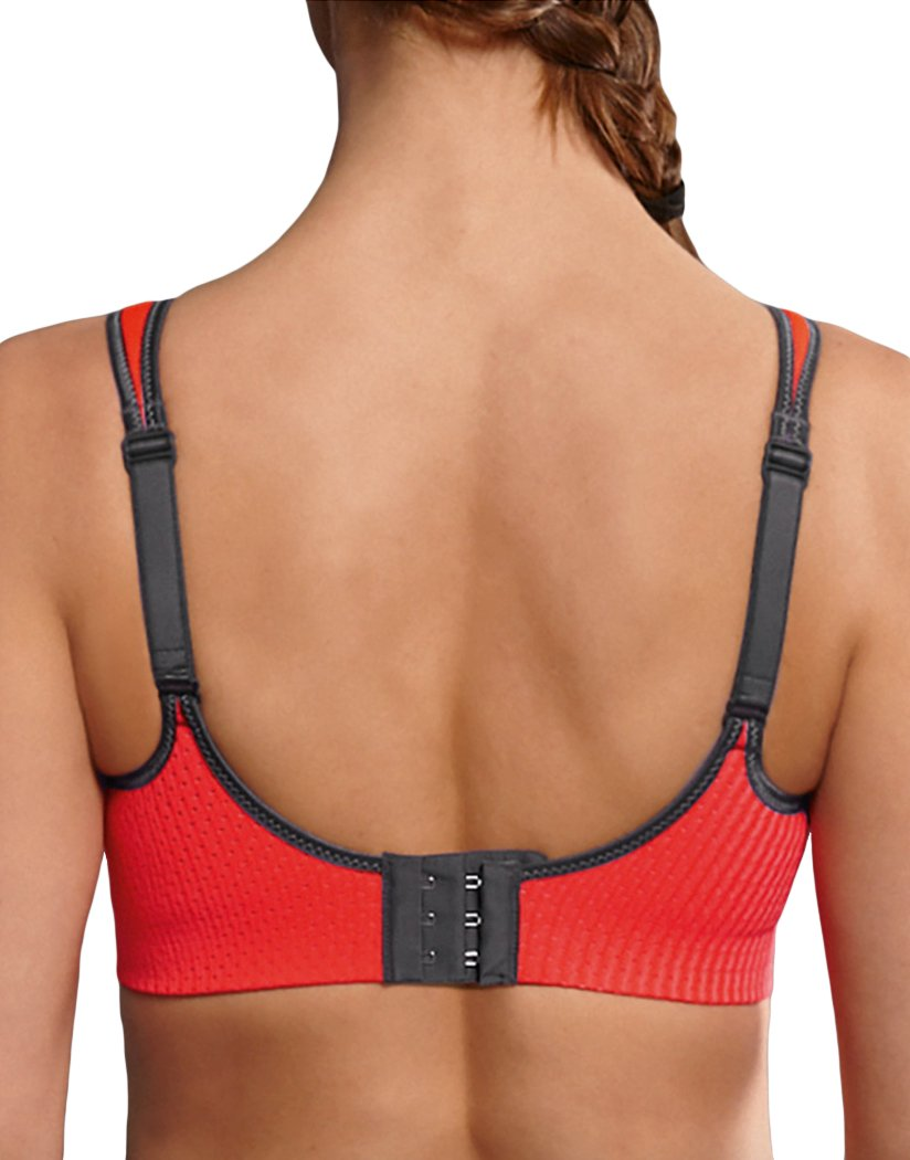 Coral/Anthracite Back Anita Maximum Air Control DeltaPad Sport Bra Coral/Anthracite 5544
