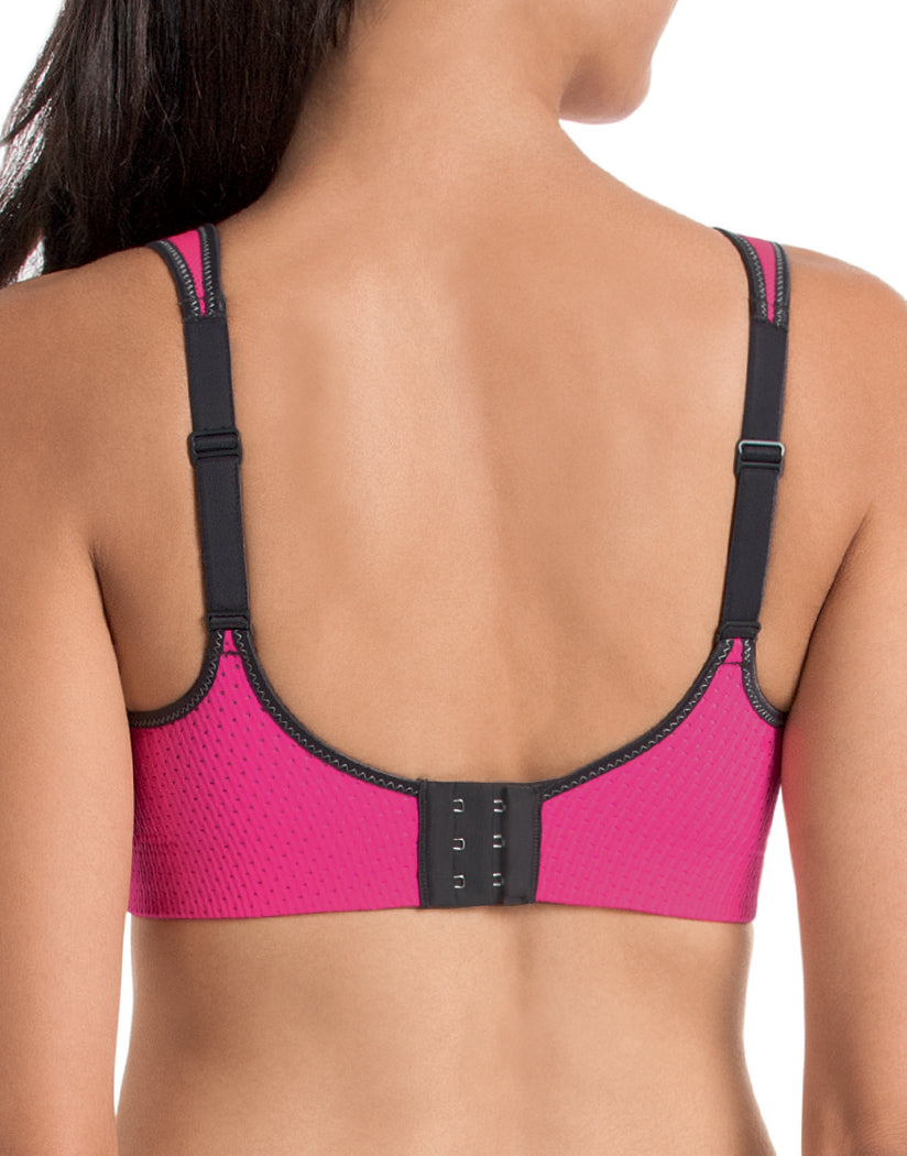 Pink/Anthracite Back Anita Maximum Air Control DeltaPad Sport Bra 5544