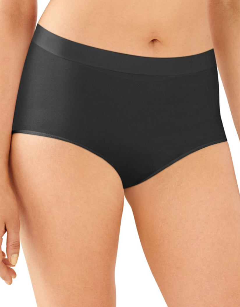 33d57fbb8f5 Black Front Bali One Smooth U All Around Smoothing Brief Panty 2361