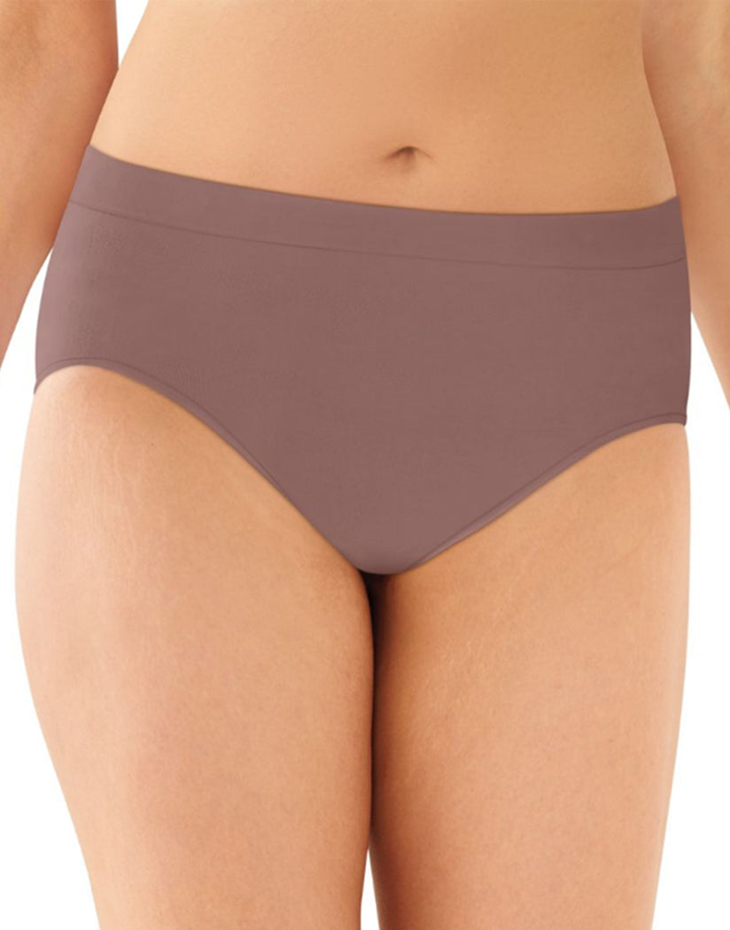 Mocha Velvet Front Bali One Smooth U All-Around Smoothing Hi-Cut Brief Panty 2362