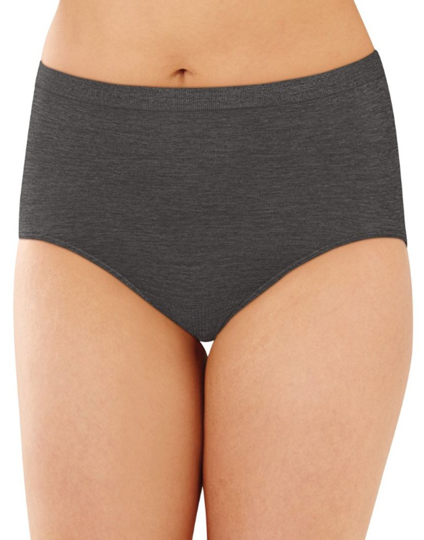 Gravel Grey Front Bali Comfort Revolution Lace Seamless Brief Panty 803J