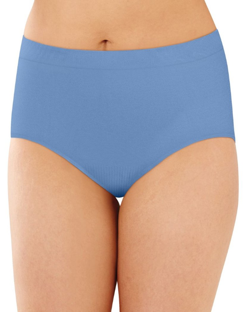 Hot Springs Blue Front Bali Comfort Revolution Lace Seamless Brief Panty 803J