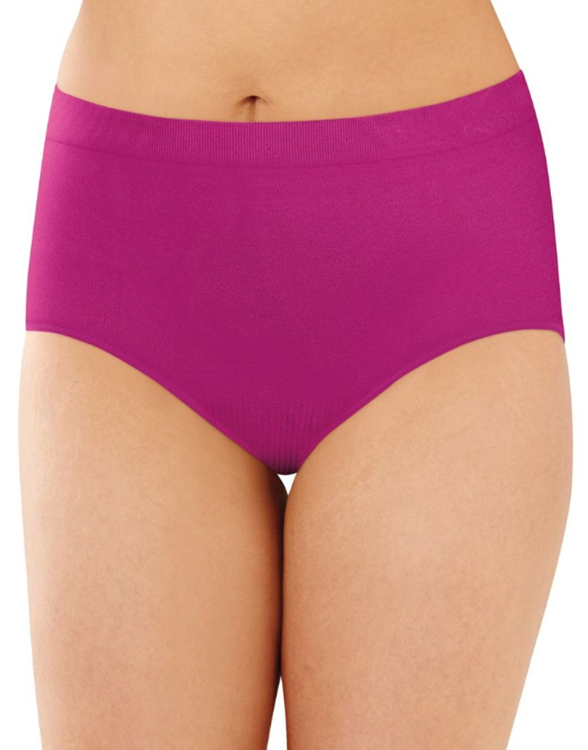 Showtime Fuchsia Front Bali Comfort Revolution Lace Seamless Brief Panty 803J