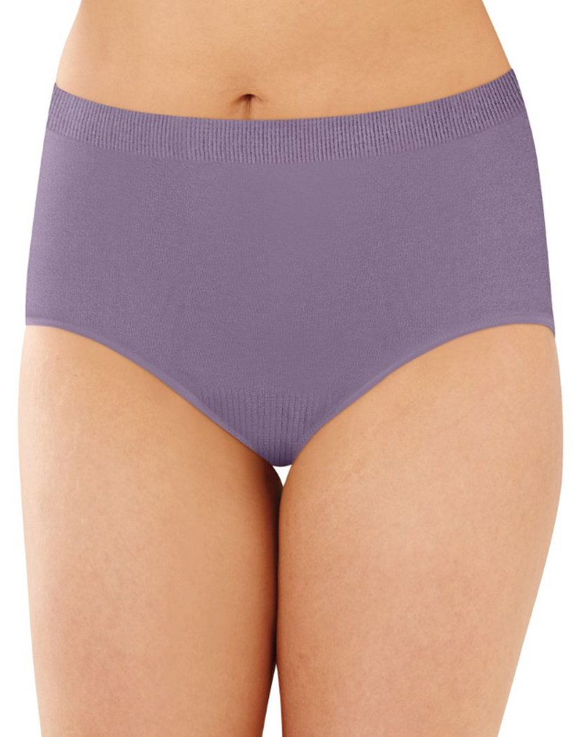 Purple Shade Front Bali Comfort Revolution Lace Seamless Brief Panty 803J