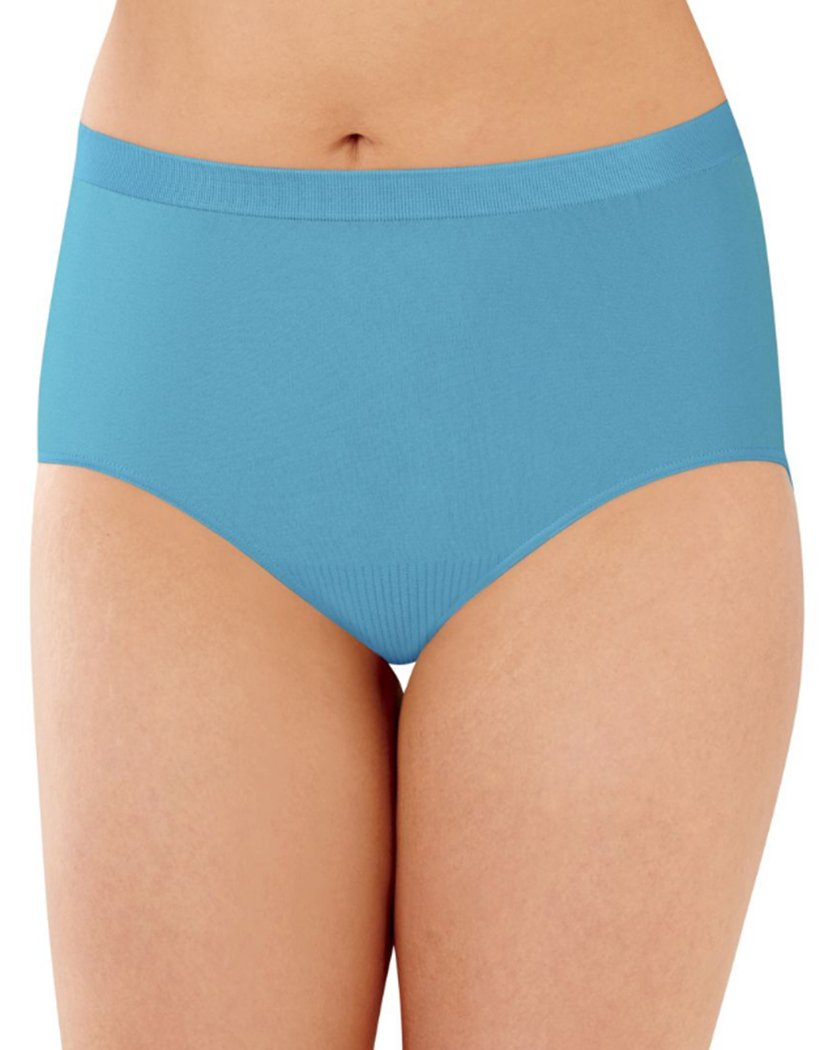 Raindrop Blue Front Bali Comfort Revolution Lace Seamless Brief Panty 803J