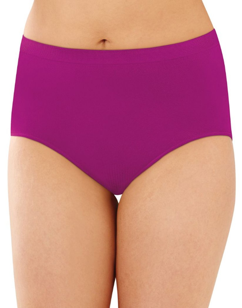 Magenta Majesty Front Bali Comfort Revolution Lace Seamless Brief Panty 803J