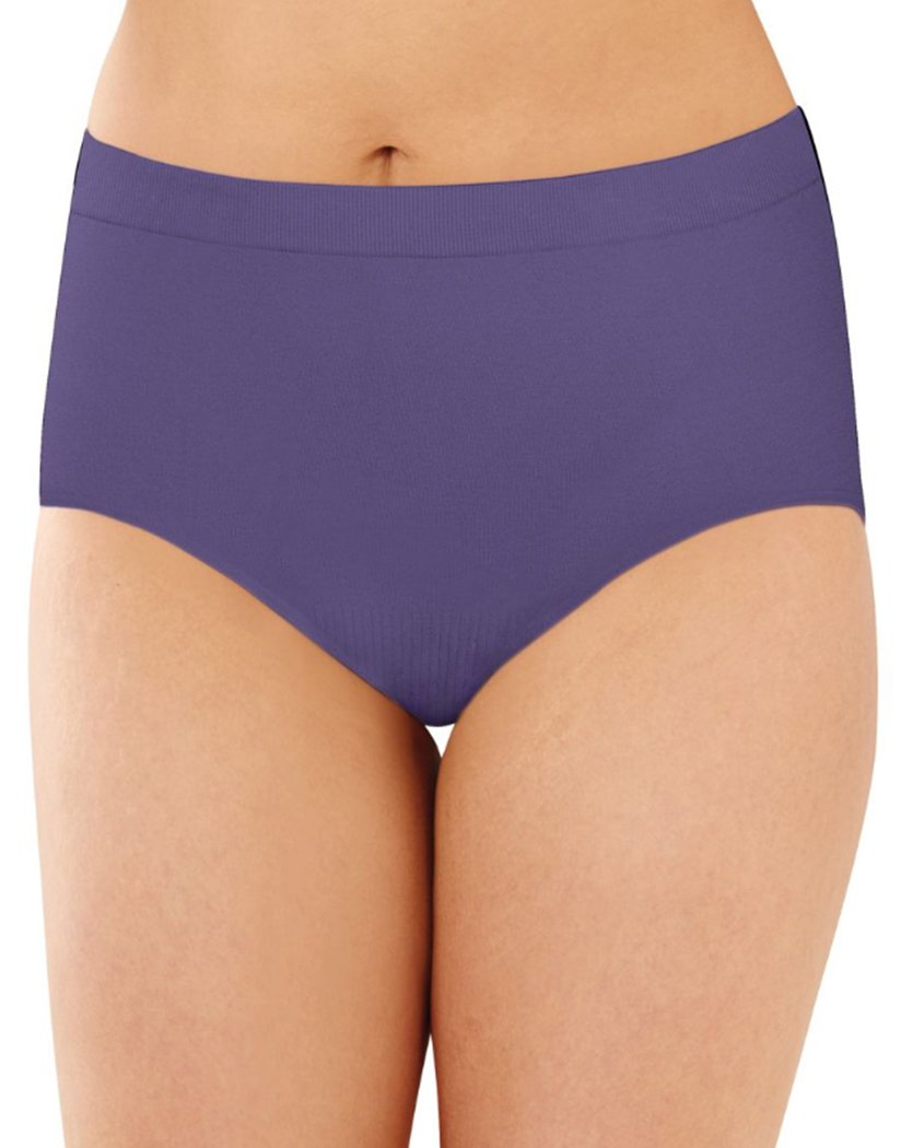 Timeless Purple Front Bali Comfort Revolution Lace Seamless Brief Panty 803J