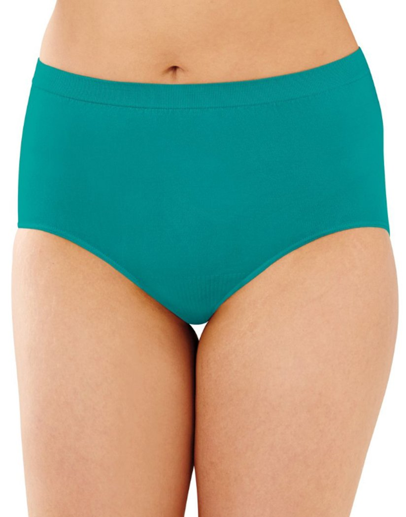 Vivid Teal Front Showtime Fuchsia Front Bali Comfort Revolution Lace Seamless Brief Panty 803J
