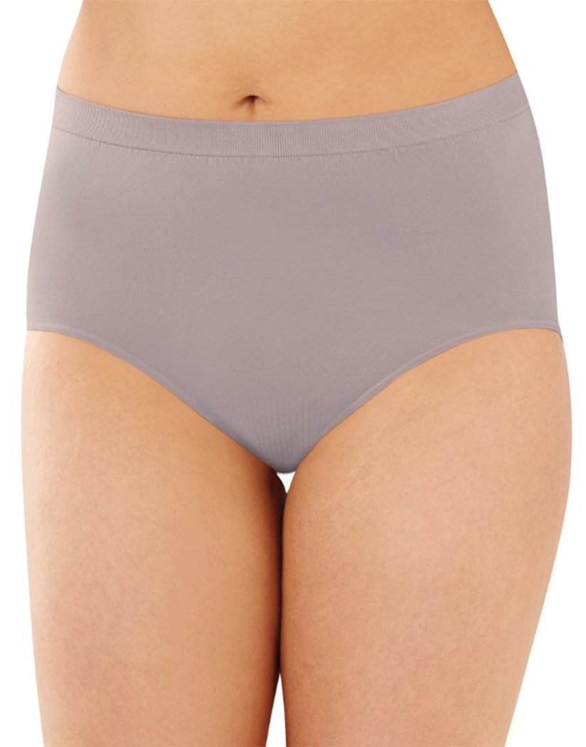 Warm Steel Front Bali Comfort Revolution Lace Seamless Brief Panty 803J