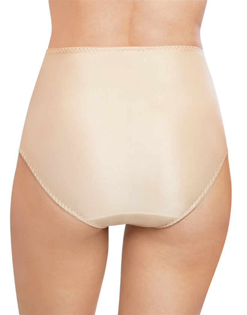 Soft Taupe Back Bali Double Support Moisture Wicking No Show Hi Cut Brief Panty DFDBHC