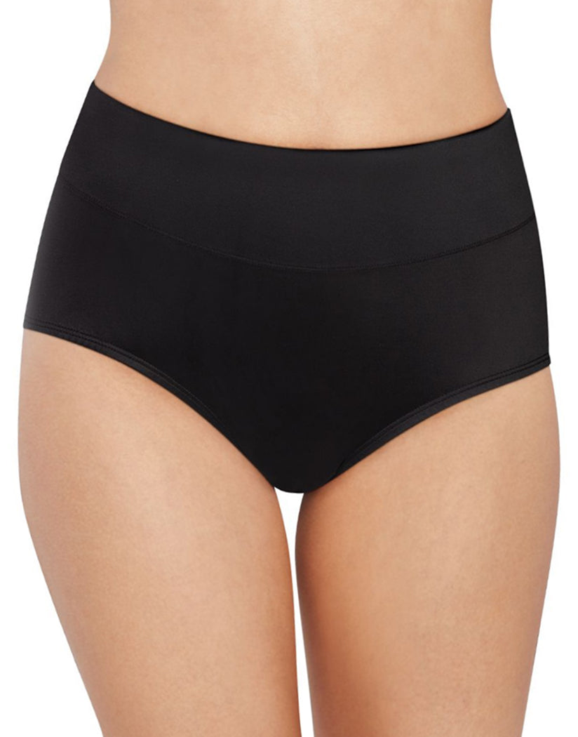 Black Front Bali Passion for Comfort Lace No Show Brief Panty DFPC61