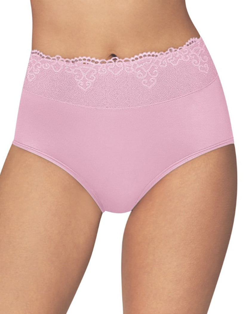 Elegant Mauve Front Bali Passion for Comfort Lace No Show Brief Panty DFPC61