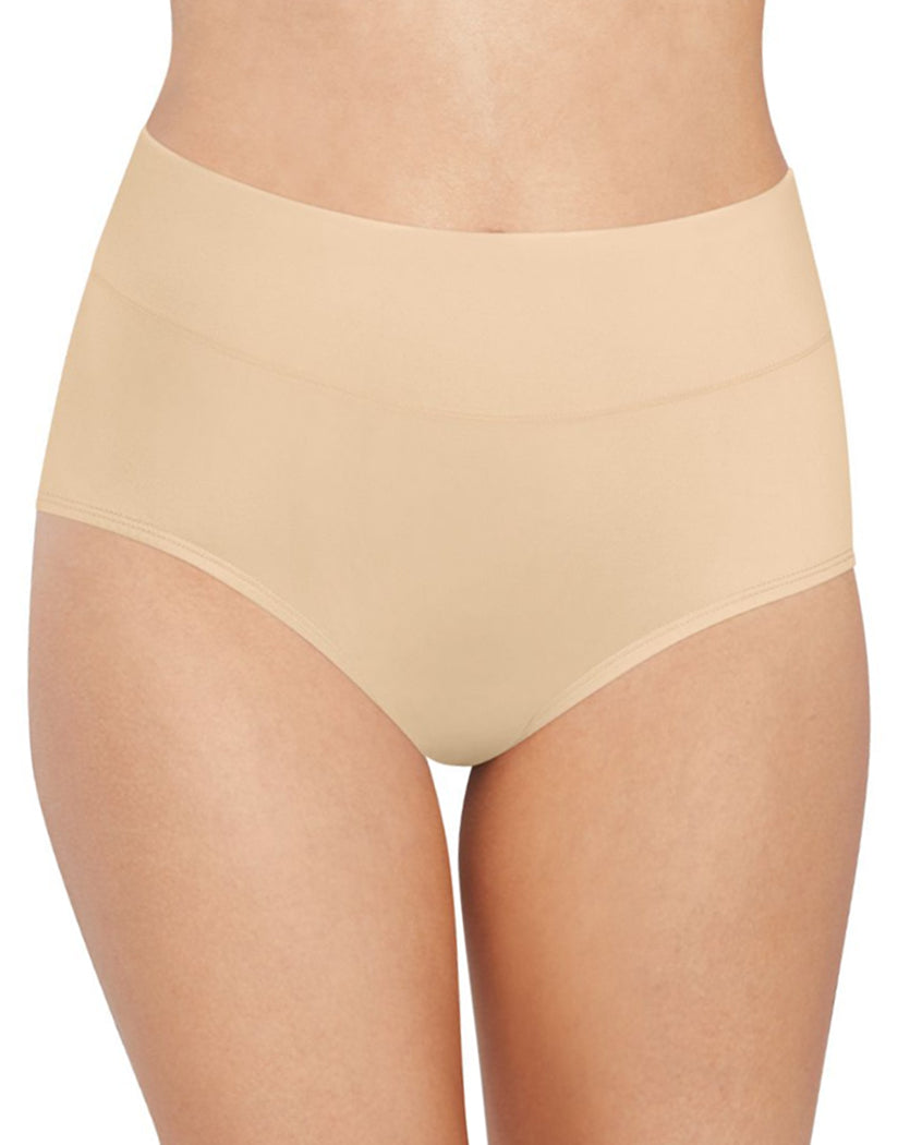 Soft Taupe Front Bali Passion for Comfort Lace No Show Brief Panty DFPC61
