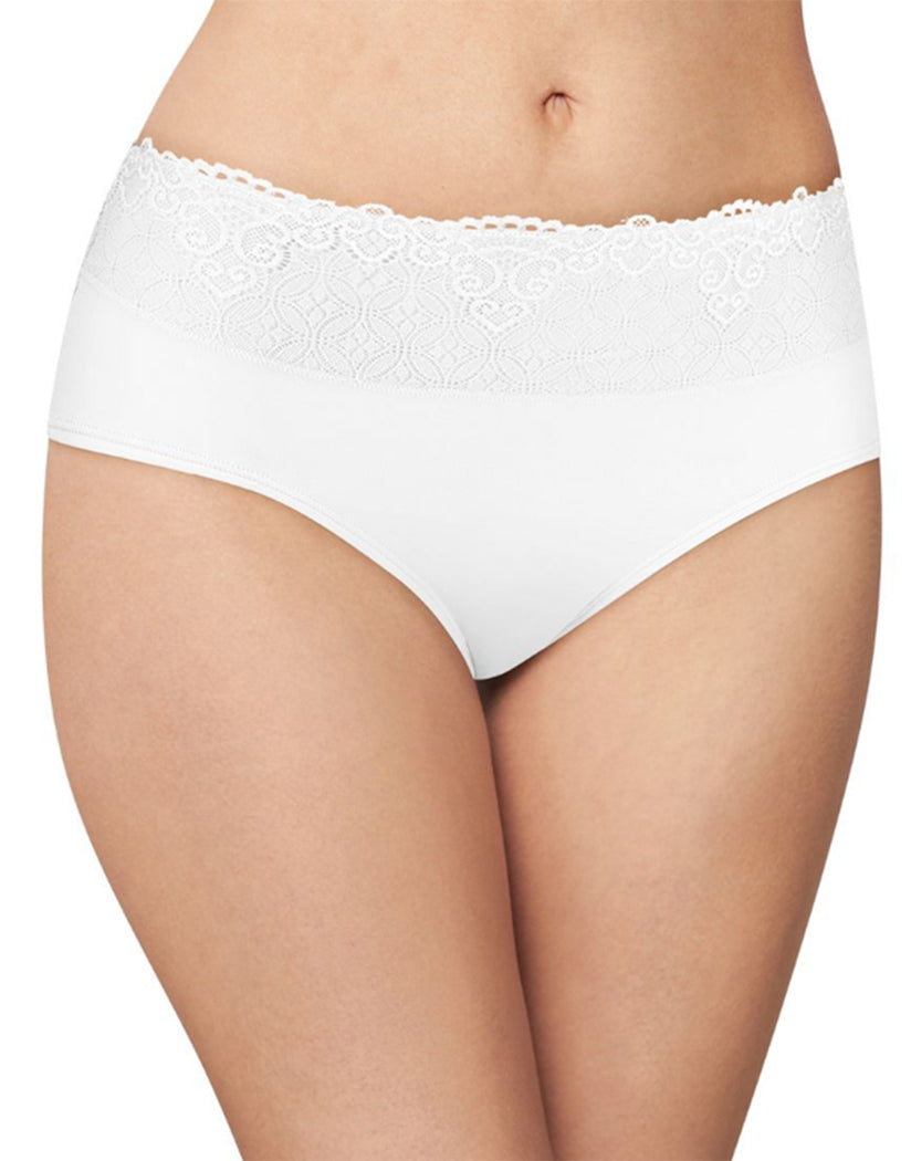 White Front Bali Passion for Comfort Lace No Show Hipster Panty DFPC63