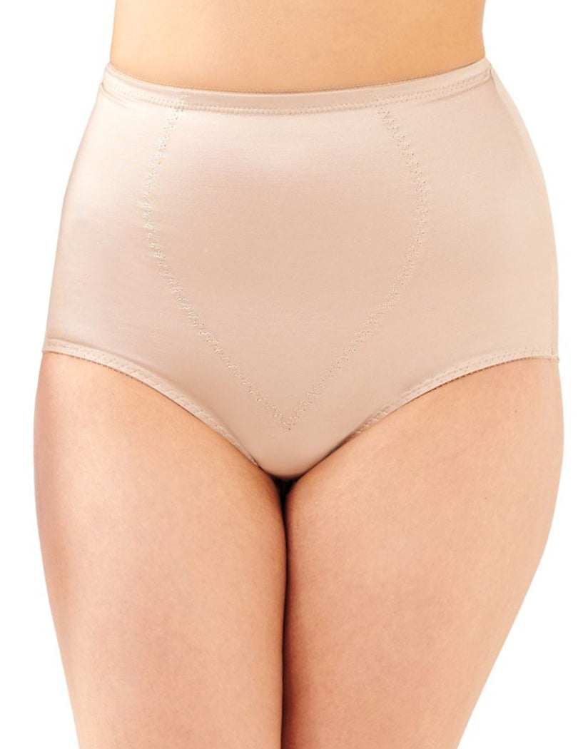 Nude Front Bali Body Tummy Panel Brief Panty with Moderate Control 2-Pack X710