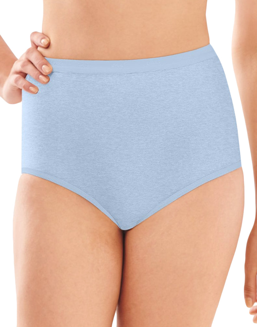 Blue Tulle Heather Front Full-Cut Fit Stretch Brief
