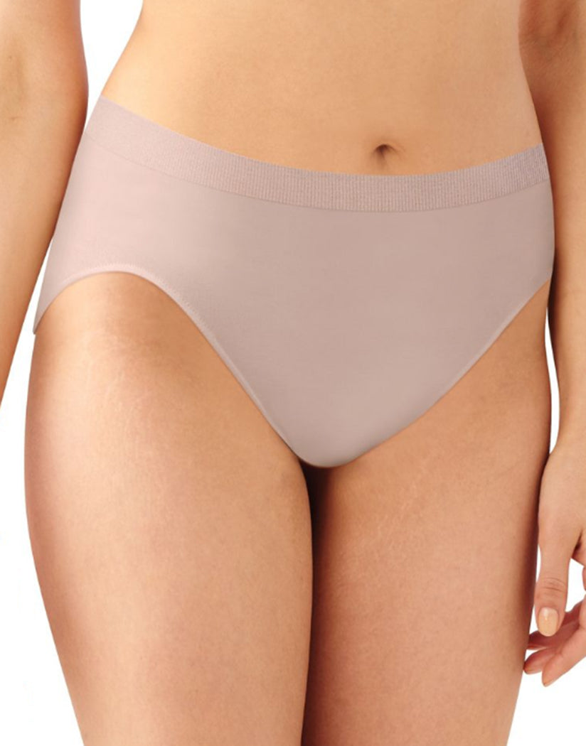 Pink Dot/White/Rosewood Front Bali Comfort Revolution Microfiber Seamless No Show Hi Cut Brief Panty 3 Pack AK83