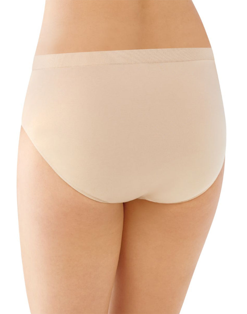 Back Bali Comfort Revolution Microfiber Seamless No Show Brief Panty 3 Pack AK88
