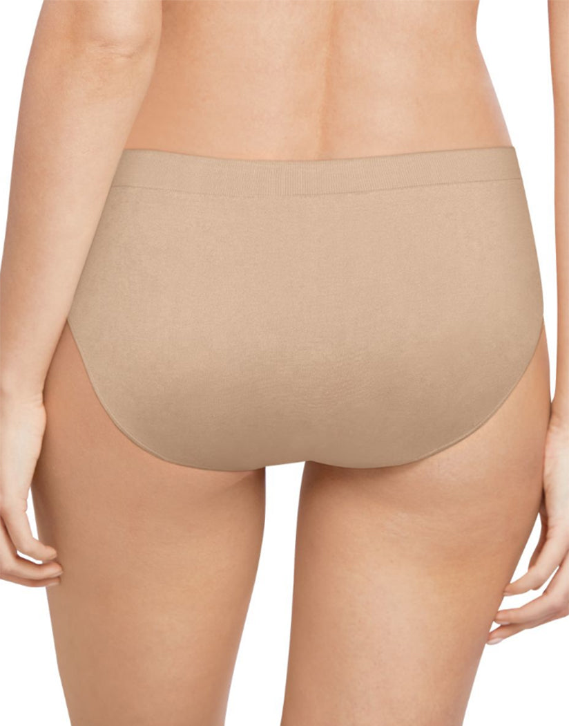 White/Nude/Light Beige Back Bali Comfort Revolution Microfiber Seamless No Show Hipster Panty 3 Pack AK90