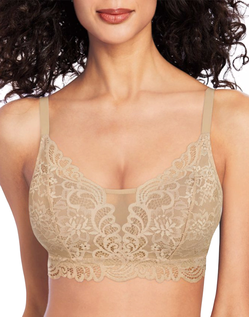 Latte Lift Front Bali Lace Desire Wirefree Bra DF6591