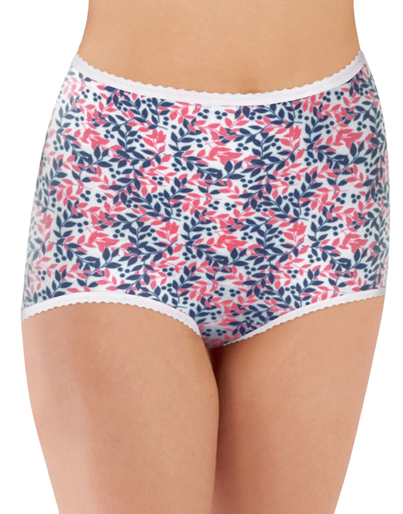 In The Navy/ Pinky Peach/Navy/Peach/Spring Floral Front Bali Skimp Skamp Cool Cotton 3-pack Panty DFA332