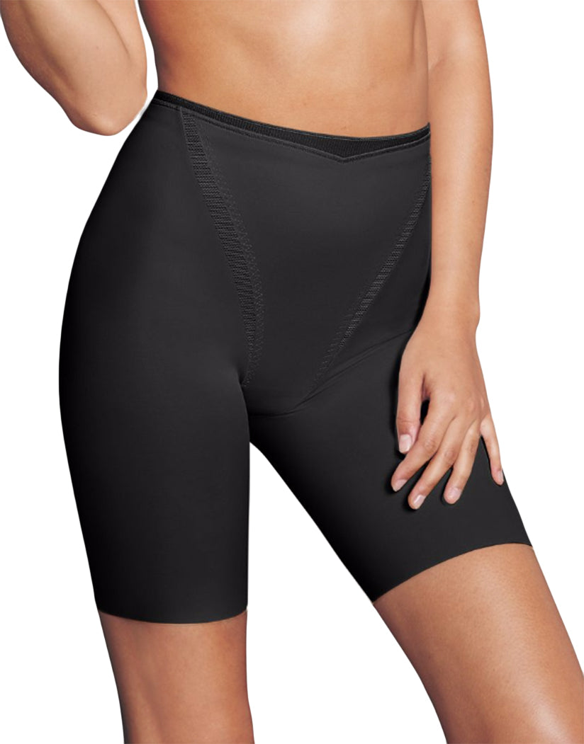 Black Front Maidenform Firm Foundations Thigh Slimmer DM5005