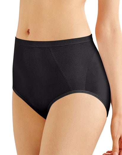 Black Front Seamless Firm Control Brief Shaper 2- Pack
