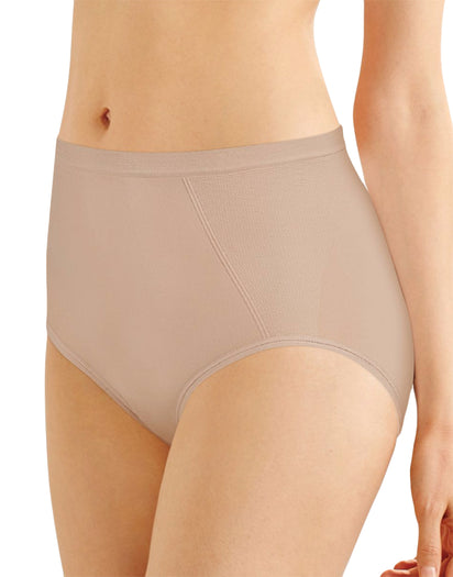 Soft Taupe Front Seamless Firm Control Brief Shaper 2- Pack