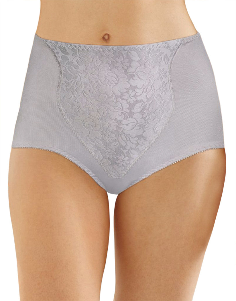 Crystal Grey Front Bali Light Control Lace Panel Brief 2-Pack