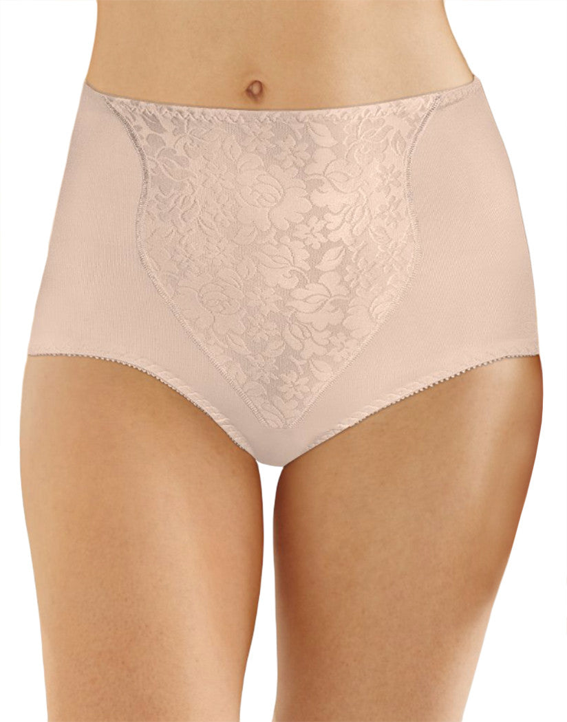 2 Soft Taupe Front Bali Light Control Lace Panel Brief 2-Pack